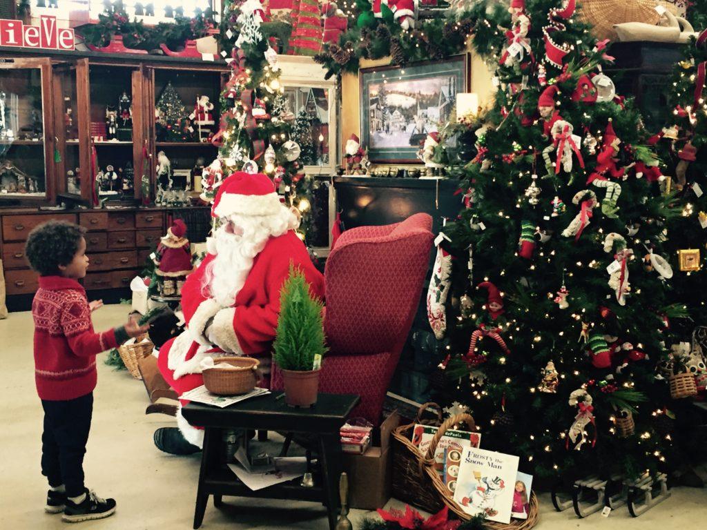 Milo with Santa 2015