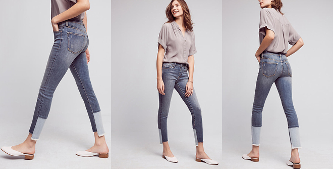 Pilcro Script High-Rise High-Low Skinny Jeans