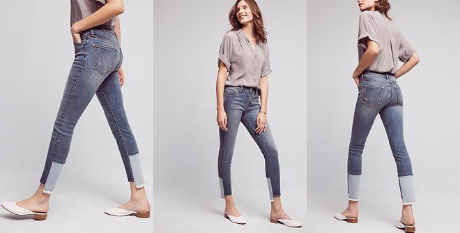 Pilcro Script High-Rise High-Low Skinny Jeans
